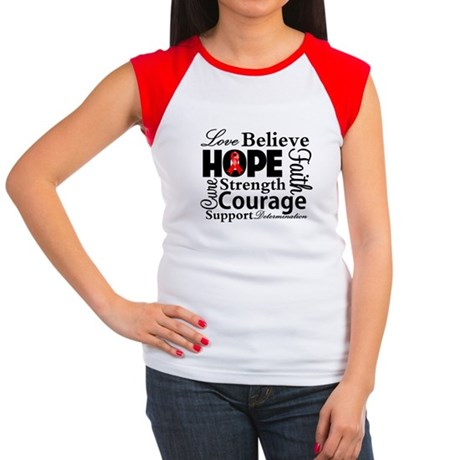 Blood Cancer Hope Collage Women's Cap Sleeve T-Shi