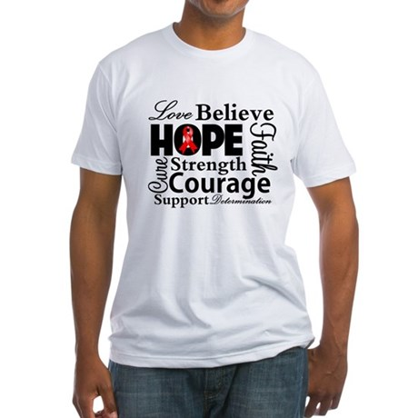 Blood Cancer Hope Collage Fitted T-Shirt