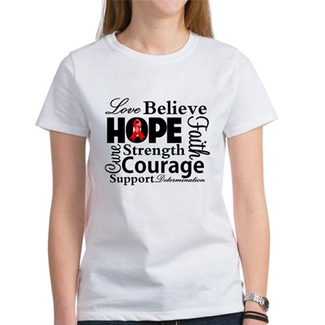 Blood Cancer Hope Collage Women's T-Shirt