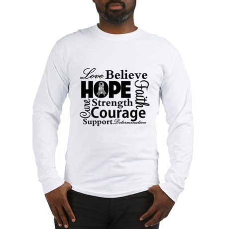 Brain Cancer Hope Collage Long Sleeve T-Shirt