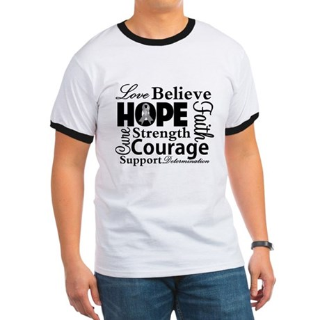 Brain Cancer Hope Collage Ringer T