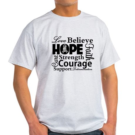 Brain Cancer Hope Collage Light T-Shirt