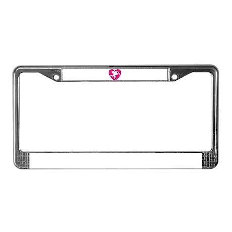 CUPID {13] : pink License Plate Frame