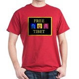 Tibet Liberation Black T-Shirt