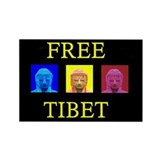 Tibet Liberation Rectangle Magnet