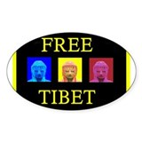 Tibet Liberation Oval Decal