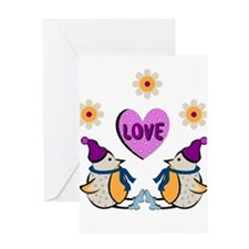 LOVE PENQUINS Greeting Card