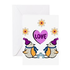 LOVE PENQUINS Greeting Cards (Pk of 10)
