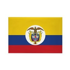 Colombia Naval Ensign Rectangle Magnet (100 pack)