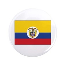 """Colombia Naval Ensign 3.5"""" Button"""