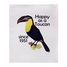 Toucan 60th Birthday Throw Blanket