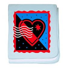 VALENTINES STAMP : heart baby blanket