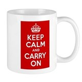 Keep Calm and Carry On Small Mug