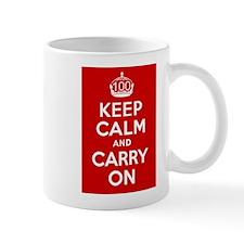 100th Birthday Keep Calm Mug