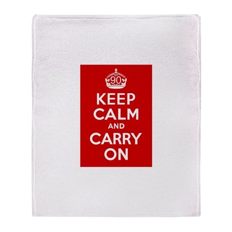 90th Birthday Keep Calm Throw Blanket