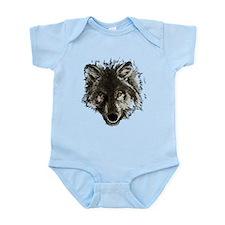 Wolf Portrait Infant Bodysuit