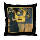 Gustav Klimt 'Music' Throw Pillow