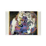 Gustav Klimt 'The Virgins' Rectangle Magnet