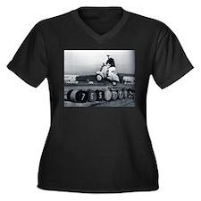 Scooter Stunt Women's Plus Size V-Neck Dark T-Shir