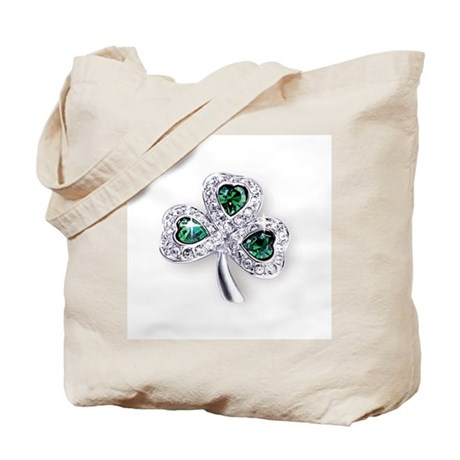 Emerald Shamrock Tote Bag