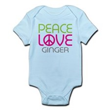 Peace Love Ginger Infant Bodysuit