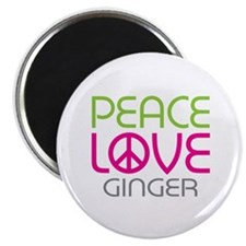 "Peace Love Ginger 2.25"" Magnet (10 pack)"