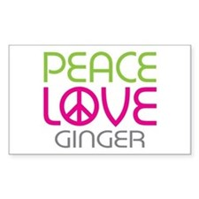 Peace Love Ginger Decal
