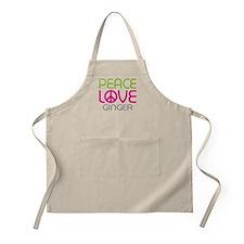 Peace Love Ginger Apron