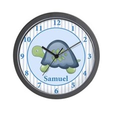 Turtle Reef Baby Nursery Wall Clock