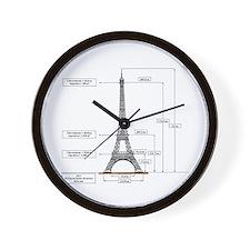 Dimensions of Eiffel Tower Wall Clock