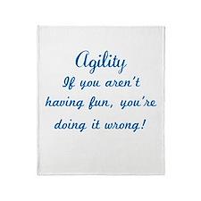 Agility Fun Throw Blanket
