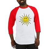 Smile Face Sun Baseball Jersey