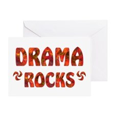 Drama Rocks Greeting Card