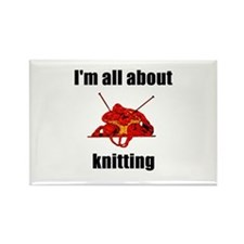 I'm All About Knitting! Rectangle Magnet (10 pack)