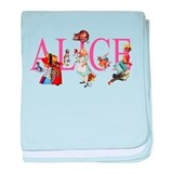 ALICE & FRIENDS IN WONDERLAND baby blanket