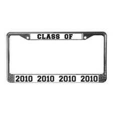 Black/White Class of 2009 License Plate Frame