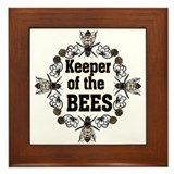 Keeping the Bees Framed Tile