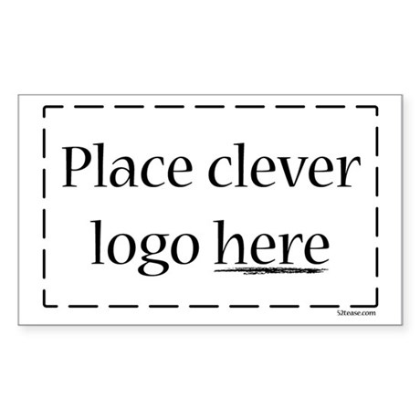 Generic Logo Rectangle Sticker