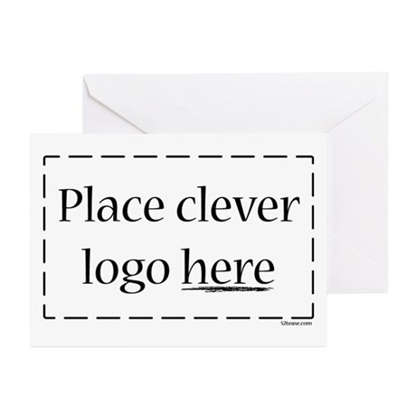 Cheap Logo Greeting Cards (Pk of 10)