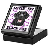 Black Lab Lovin' Keepsake Box
