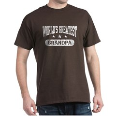 World's Greatest Grandpa Dark T-Shirt
