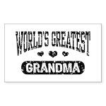 World's Greatest Grandma Sticker (Rectangle)