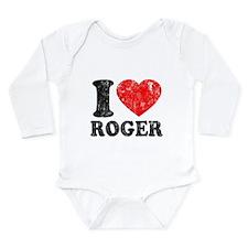 I (Heart) Roger Long Sleeve Infant Bodysuit