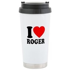 I (Heart) Roger Ceramic Travel Mug