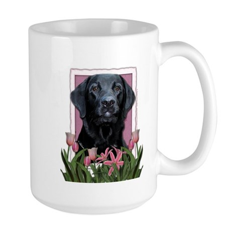 Mothers Day - Pink Tulips Large Mug