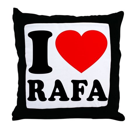 I (Heart) Rafa Throw Pillow