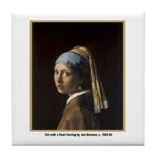 Vermeer Girl with Pearl Earring Tile Coaster