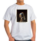 Vermeer Girl with Pearl Earring Ash Grey T-Shirt