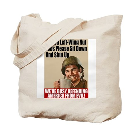 We're Defending America Tote Bag