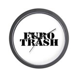 Euro Trash Wall Clock